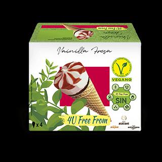 Strawberry Vanilla Cone