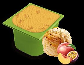 Peach with Maracuya Sauce